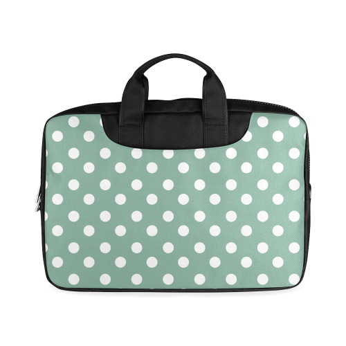 "Mint Polka Dots Macbook Air 11""(Two sides)"