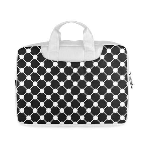 "Black and White Trellis Dots Macbook Air 11""(Two sides)"
