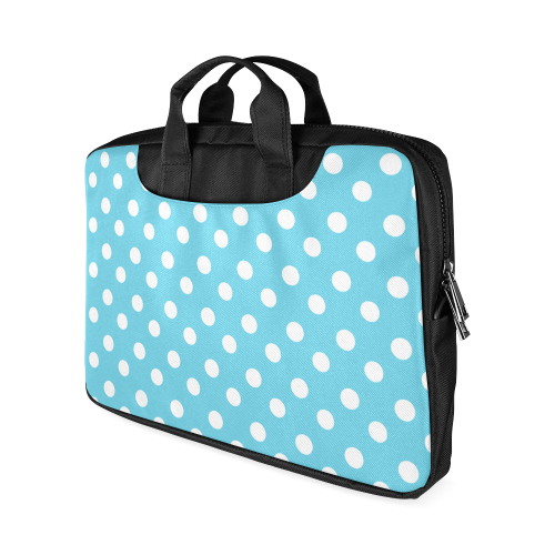 "Cyan Polka Dots Macbook Air 11""(Two sides)"