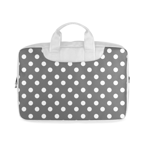 "Gray Polka Dots Macbook Air 11""(Two sides)"