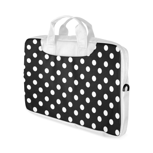 "Black Polka Dots Macbook Air 11""(Two sides)"