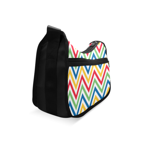 Green Red Chevron Crossbody Bags (Model 1616)