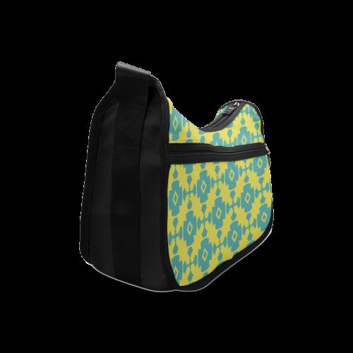 Yellow Teal Geometric Tile Pattern Crossbody Bags Model 1616 Id D103974
