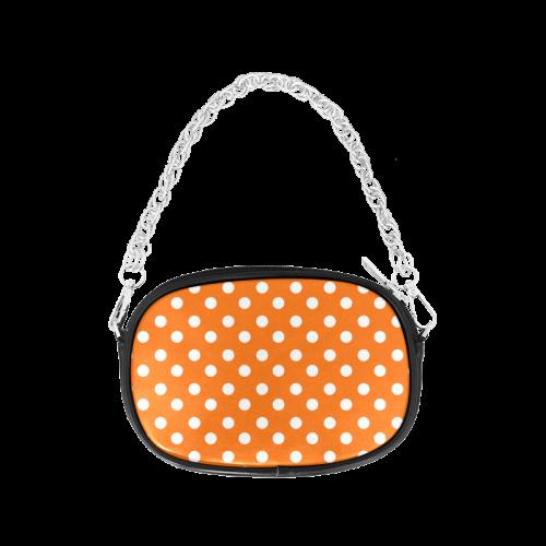 Orange Polka Dots Chain Purse (Model 1626)