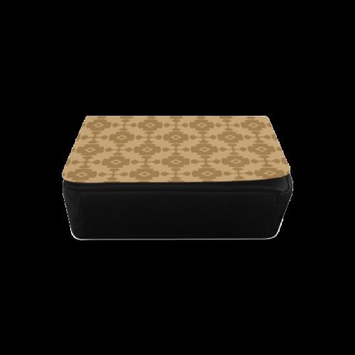 Dark tan Geometric Tile Pattern Messenger Bag (Model 1628)