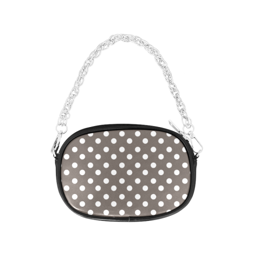 Beige Polka Dots Chain Purse (Model 1626)