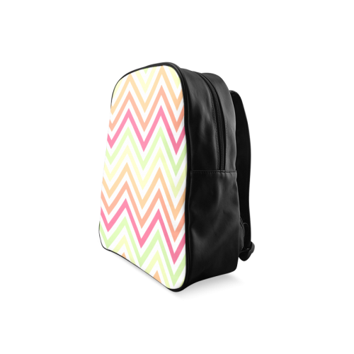 Chic Chevron School Backpack/Large (Model 1601)