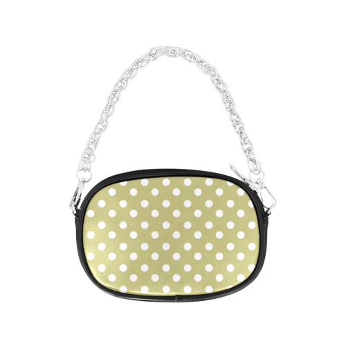 Olive Polka Dots Chain Purse (Model 1626)