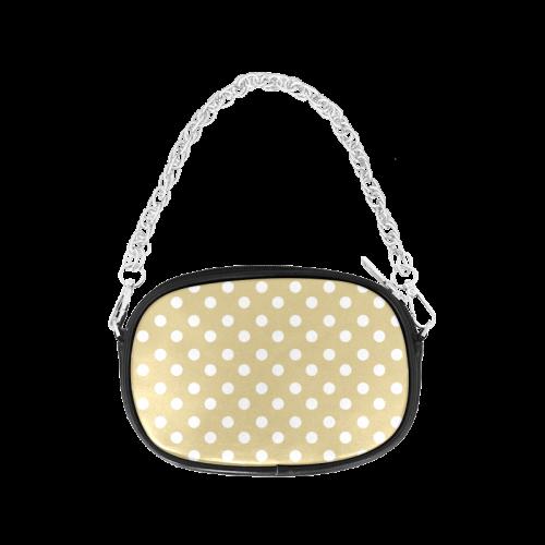 Light Olive Polka Dots Chain Purse (Model 1626)