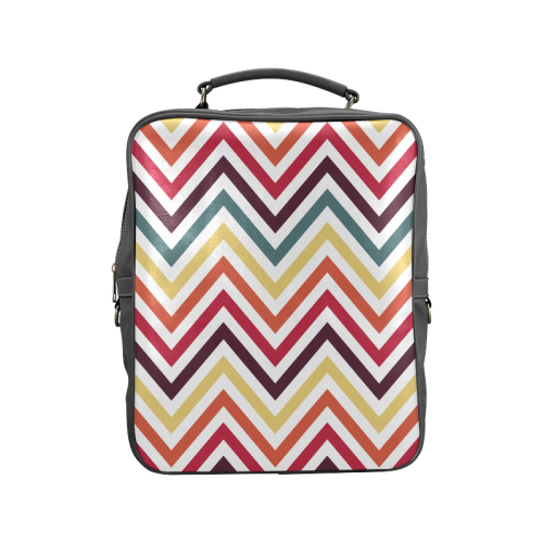 Colorful Modern Chevron Square Backpack (Model 1618)
