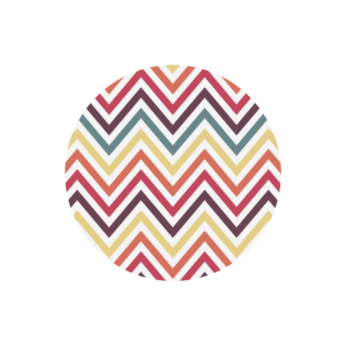 Colorful Modern Chevron Round Mousepad