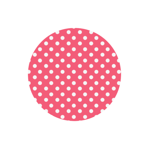 Indian Red Polka Dots Round Mousepad