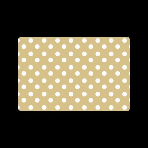 """Light Olive Polka Dots Doormat 23.6"""" x 15.7"""""""
