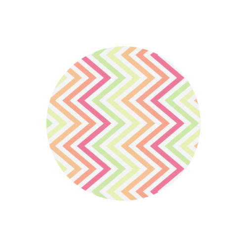 Chic Chevron Round Mousepad