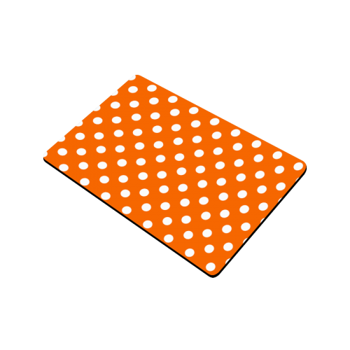 "Orange Polka Dots Doormat 24"" x 16"""
