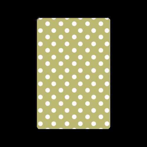"""Olive Polka Dots Doormat 23.6"""" x 15.7"""""""
