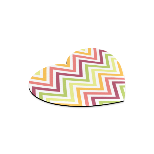 Modern Trendy Chevron Heart-shaped Mousepad