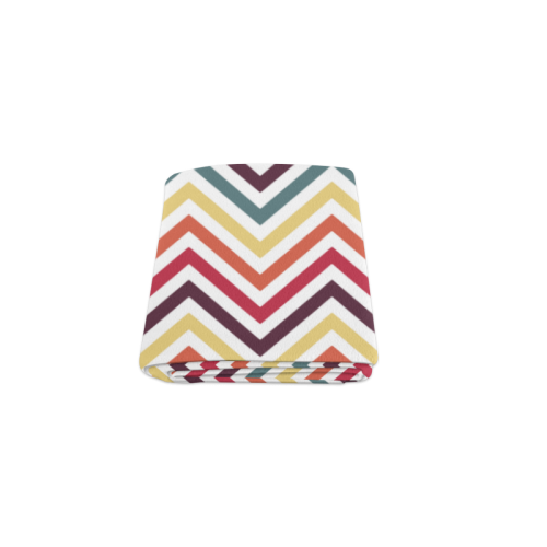 "Colorful Modern Chevron Blanket 40""x50"""
