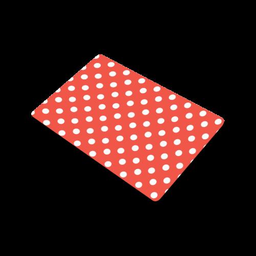 """Orange Red Polka Dots Doormat 23.6"""" x 15.7"""""""
