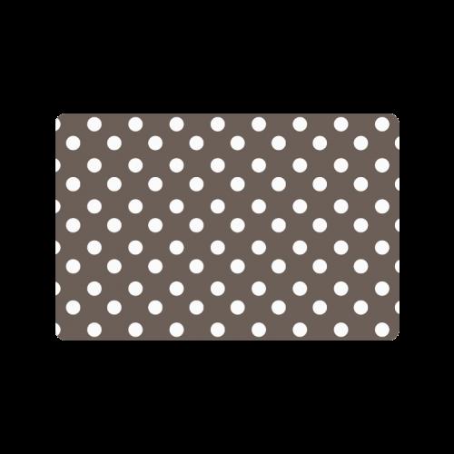 """Beige Polka Dots Doormat 24"""" x 16"""""""