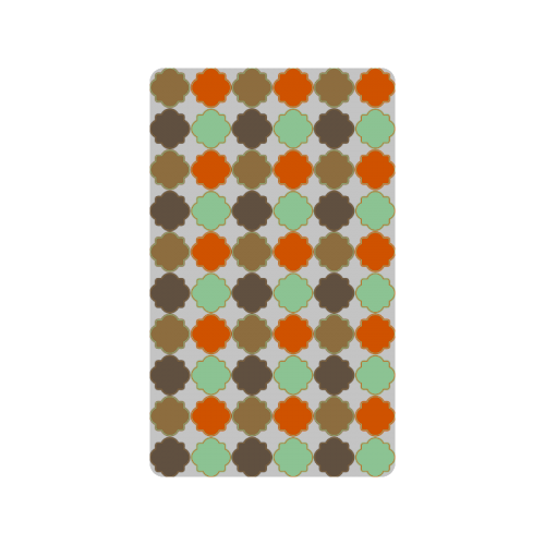 "Colorful Quatrefoil Trellis Pattern Doormat 30""x18"""