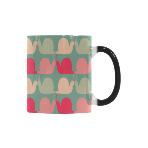 Colorful Snails Pattern Custom Morphing Mug