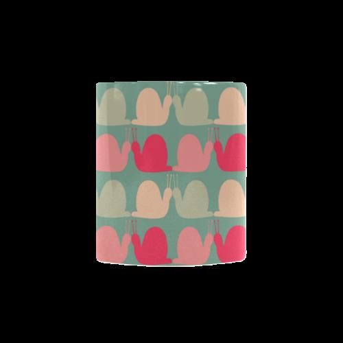 Colorful Snails Pattern Custom Morphing Mug
