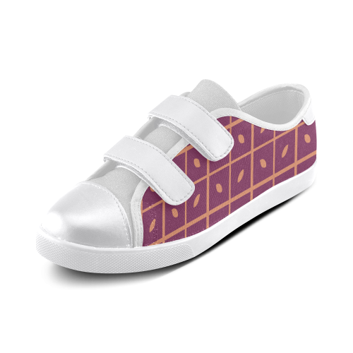 Leaves Pattern Velcro Canvas Kid's Shoes (Model 008)
