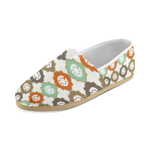 Decorative Quatrefoil Pattern Women's Casual Shoes (Model 004)