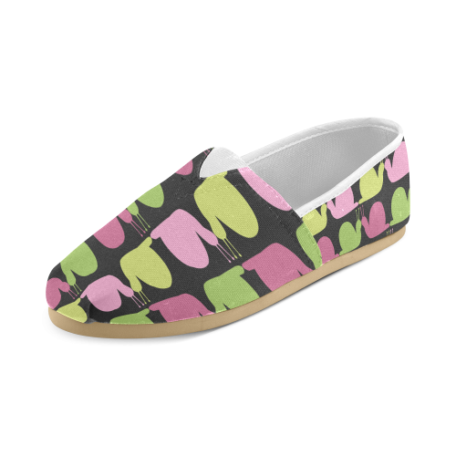 Whimsical Pastel Snails Pattern Women's Casual Shoes (Model 004)