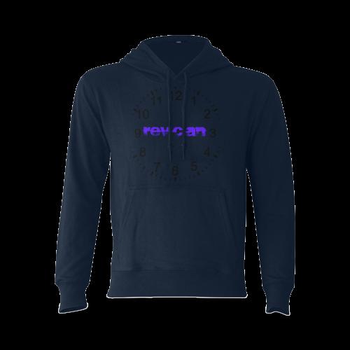 navy blue Gildan Hoodie Sweatshirt (Model H03)