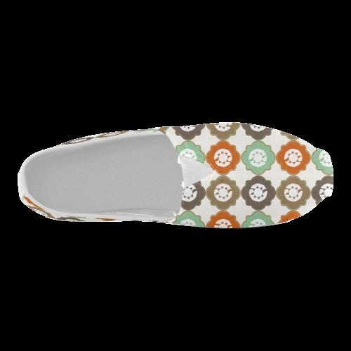 Decorative Quatrefoil Pattern Unisex Casual Shoes (Model 004)