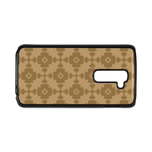 Dark tan Geometric Tile Pattern Hard Case for LG G2