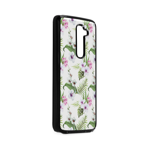 Tropical Hibiscus and Palm Leaves Hard Case for LG G2
