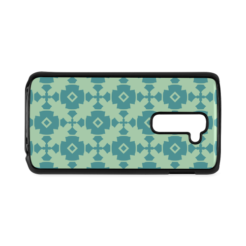 Teal Mint Geometric Tile Pattern Hard Case for LG G2