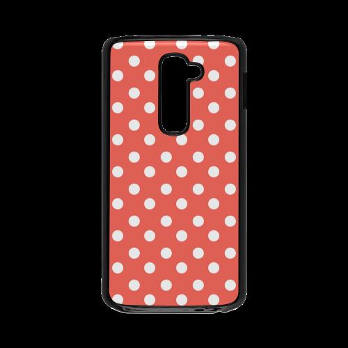 Orange Red Polka Dots Hard Case for LG G2