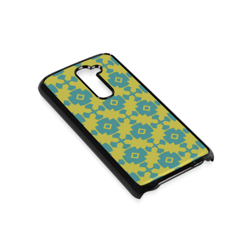 Yellow Teal Geometric Tile Pattern Hard Case for LG G2