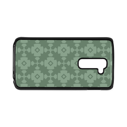 Green Geometric Tile Pattern Hard Case for LG G2
