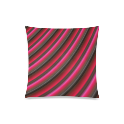 """Glossy Red  Gradient Stripes Custom Zippered Pillow Case 20""""x20""""(One Side)"""
