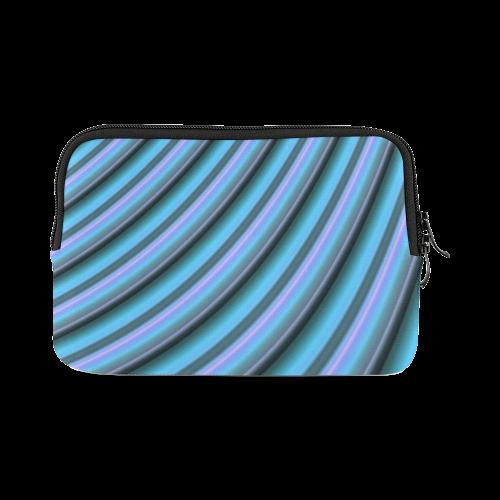 Glossy Light Blue Gradient Stripes iPad mini
