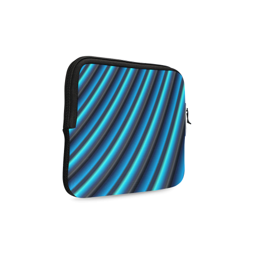 Glossy Blue Gradient Stripes iPad mini