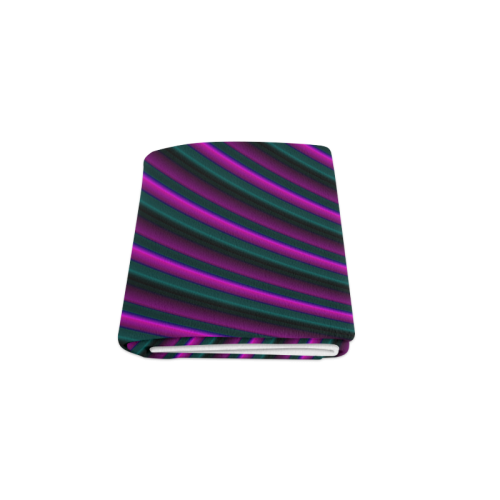 "Glossy Purple Gradient Stripes Blanket 50""x60"""