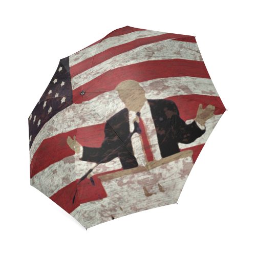 Trumbrella - Donald Trump Umbrella Foldable Umbrella (Model U01)