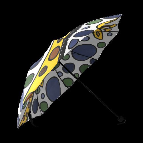Funny Giraffe Family Abstract Art Foldable Umbrella