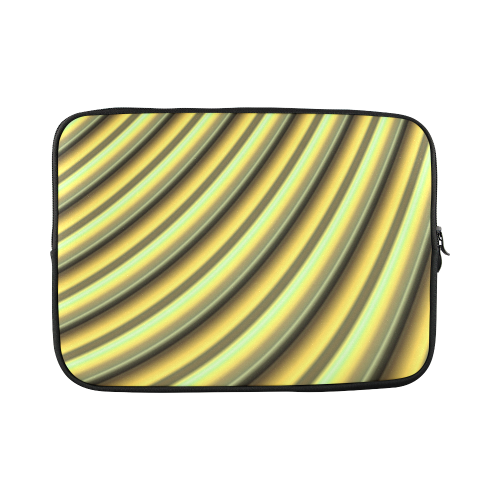 "Glossy Yellow Banana Gradient Stripes Custom Sleeve for Laptop 15.6"""