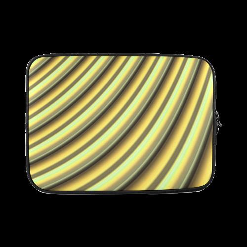 Glossy Yellow Banana Gradient Stripes Custom Laptop Sleeve 14''