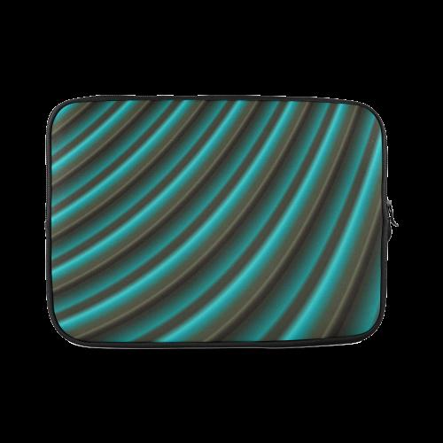 Glossy Green Gradient Stripes Custom Laptop Sleeve 14''
