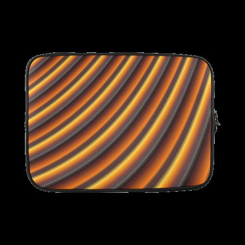 """Glossy Honey Caramel Gradient Stripes Custom Sleeve for Laptop 15.6"""""""