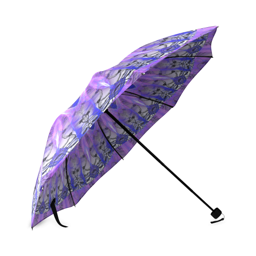Abstract Plum Ice Crystal Palace Foldable Umbrella (Model U01)