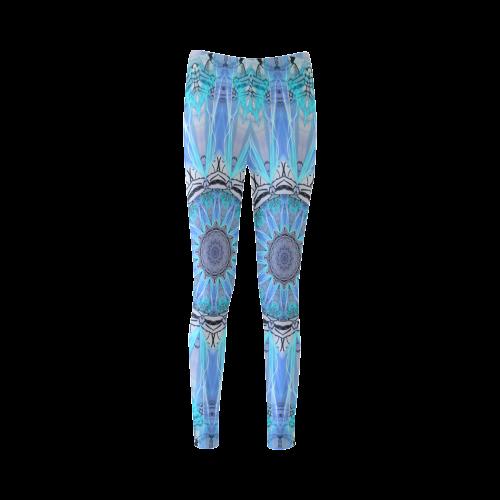 Sapphire Ice Flame Light Cassandra Women's Leggings (Model L01)